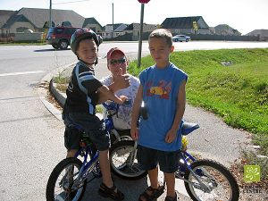 terry fox run mike with boys on bikes