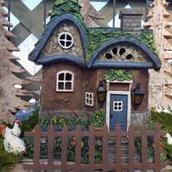 georgina garden centre features fairy garden house rounded roof with solar lights